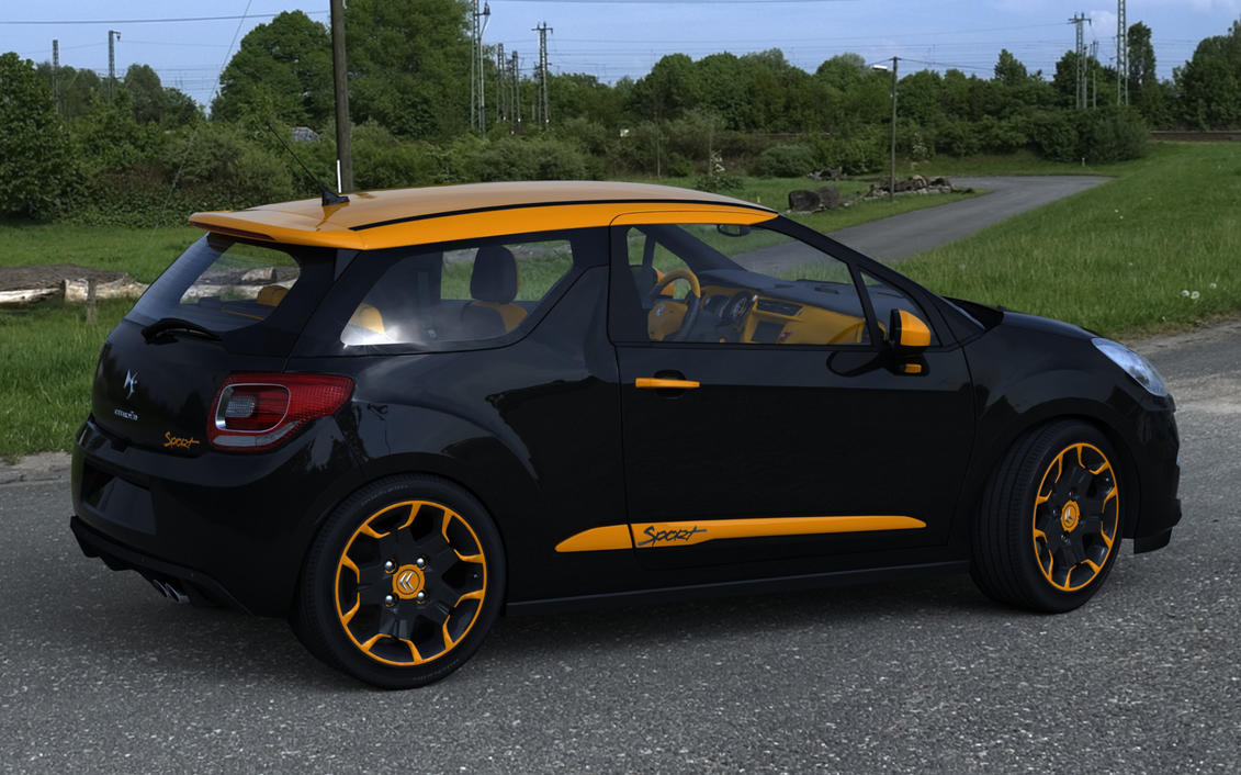citroen ds3 sport orange r2 by rjamp on deviantart. Black Bedroom Furniture Sets. Home Design Ideas