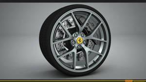 Ferrari wheel render by RJamp