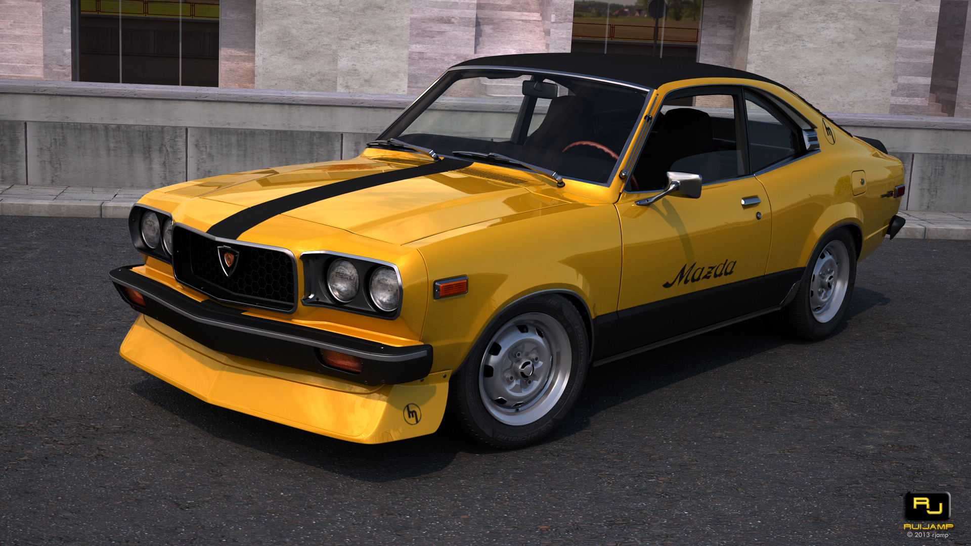 shakotan-mazda-rx3-stance-11 | Cars and Motorcycles | Pinterest ...