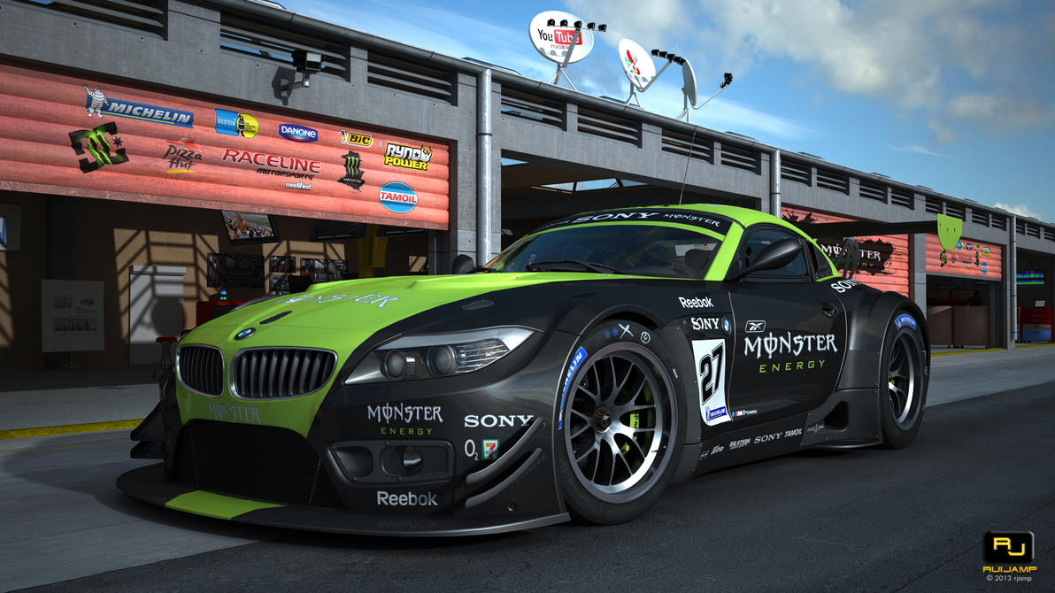 Bmw Z4 Gt3 Monster Race Track Scene By Rjamp On Deviantart
