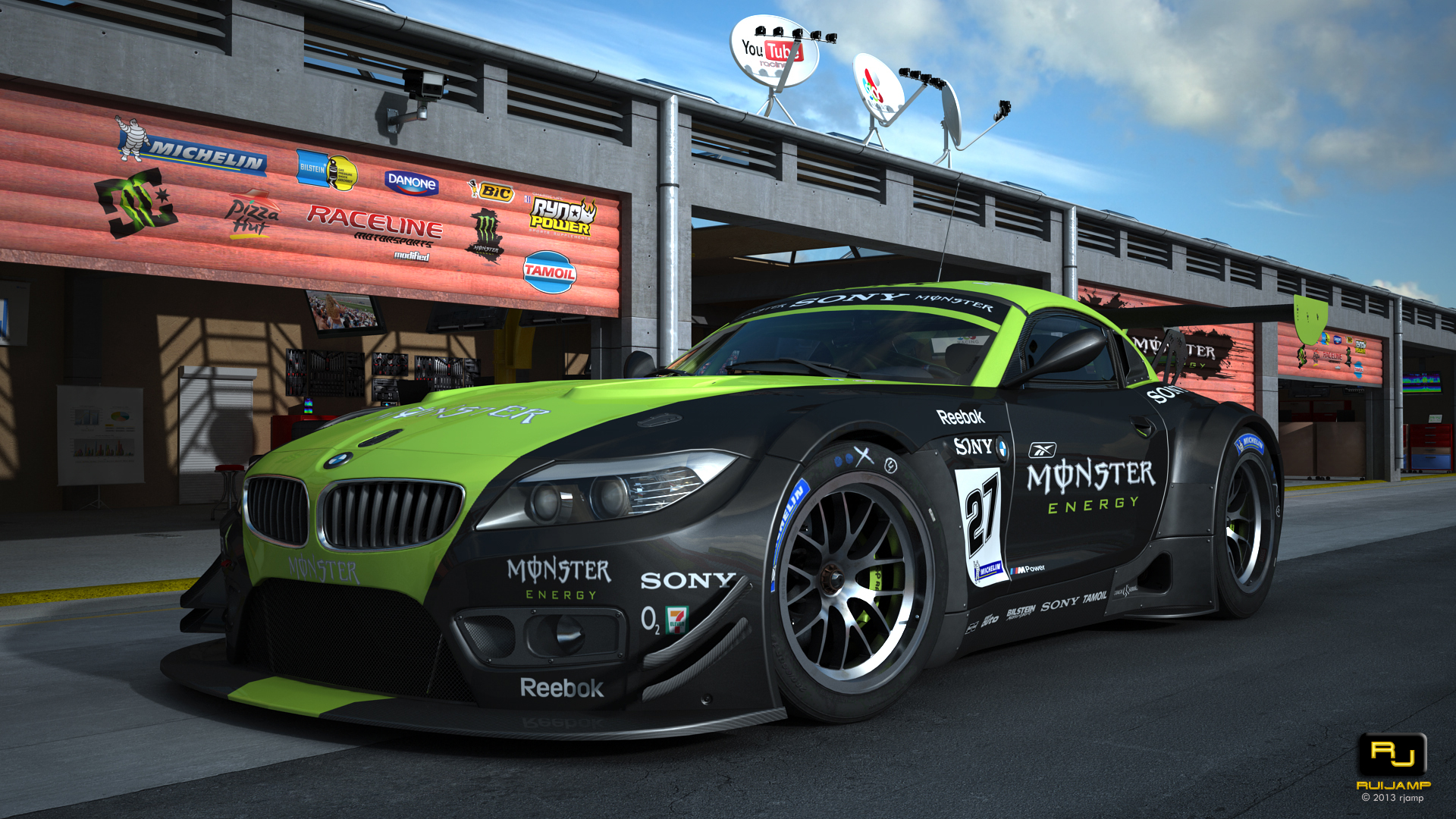 Bmw Z4 Gt3 Monster Race Track Scene By Rjamp On Deviantart