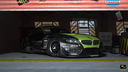 Bmw Z4 GT3 Monster race track scene 6 by RJamp