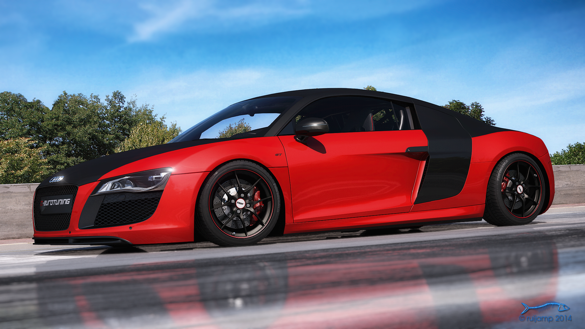 Rjamp has created some amazing 3 d versions of audi r8 gt3 which we