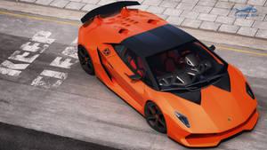 Lamborghini -orangelemento- Sesto 5 by RJamp