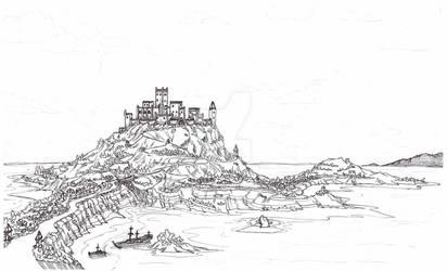 Castle With Village