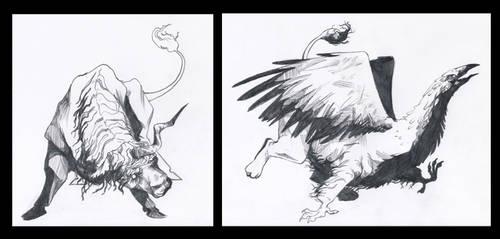 Medieval creatures by ShotzgoBoom