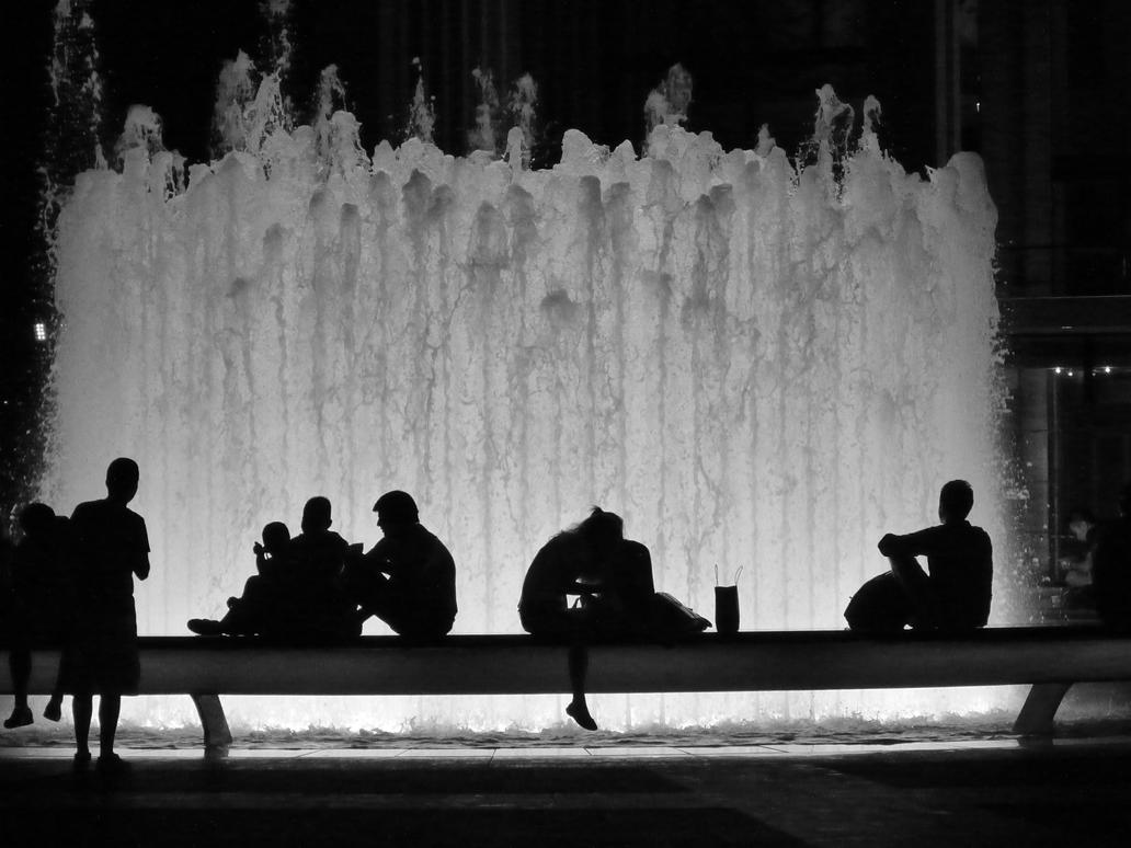 Lincoln Fountain Silhouette By Jmasker