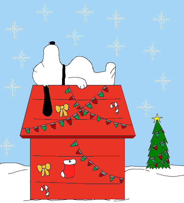 Snoopys Christmas.Snoopy S Christmas House By Pacman8 On Deviantart