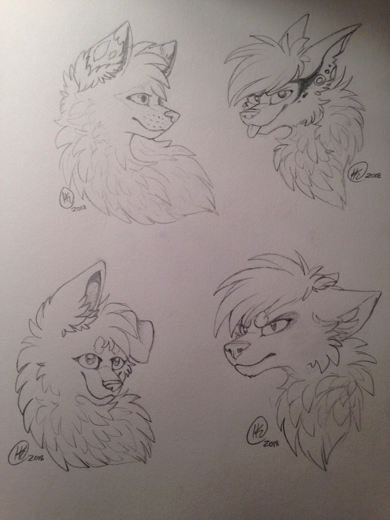 commissions are still open profile sketching by the flaming tiger