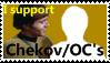 I support Chekov/OC's Stamp by SailorTrekkie92