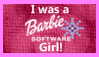 I was a Barbie Software Girl Stamp