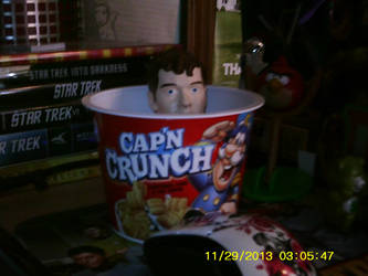 Get out of my cereal Chekov! by SailorTrekkie92
