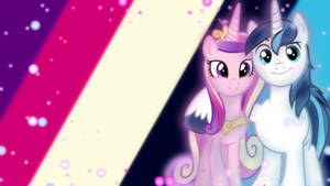 Shining Armor and Cadence Wallpaper
