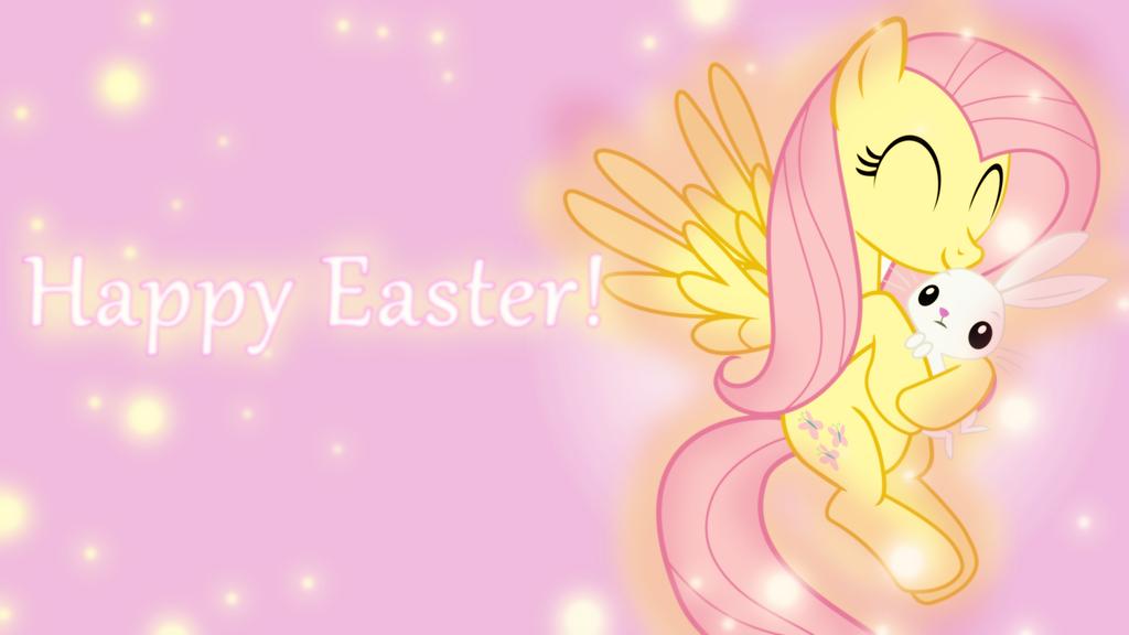 Fluttershy Easter Wallpaper by SailorTrekkie92