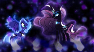 Luna vs Nightmare Rarity Wallpaper