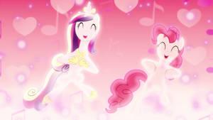 Shufflin' Ponies Wallpaper