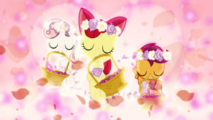Flower Fillies Wallpaper