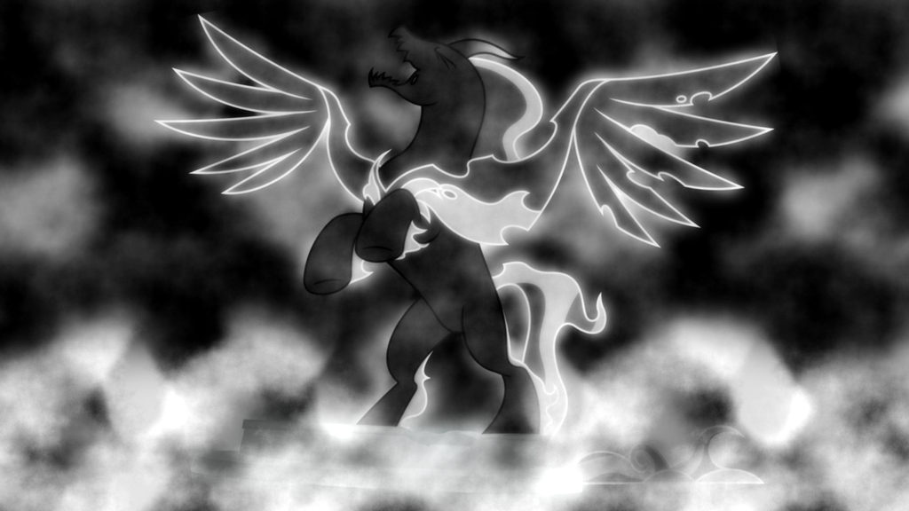Pony of Shadows Wallpaper by SailorTrekkie92