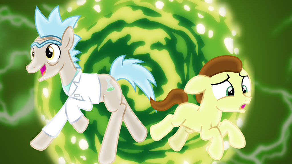 Pony Rick And Morty Wallpaper By SailorTrekkie92