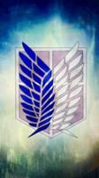 [Attack on Titan] Survey Corps iphone wallpaper by SailorTrekkie92