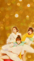 Orange Caramel Christmas iphone wallpaper by SailorTrekkie92