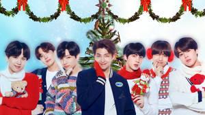 BTS Christmas Wallpaper by SailorTrekkie92