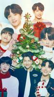 BTS Christmas iphone wallpaper by SailorTrekkie92
