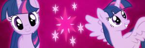 Twilight Sparkle Twitter Header by SailorTrekkie92
