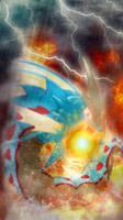 Mega Gyarados iphone wallpaper by SailorTrekkie92
