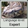 Parseltongue Language Stamp Level: Expert by SailorTrekkie92