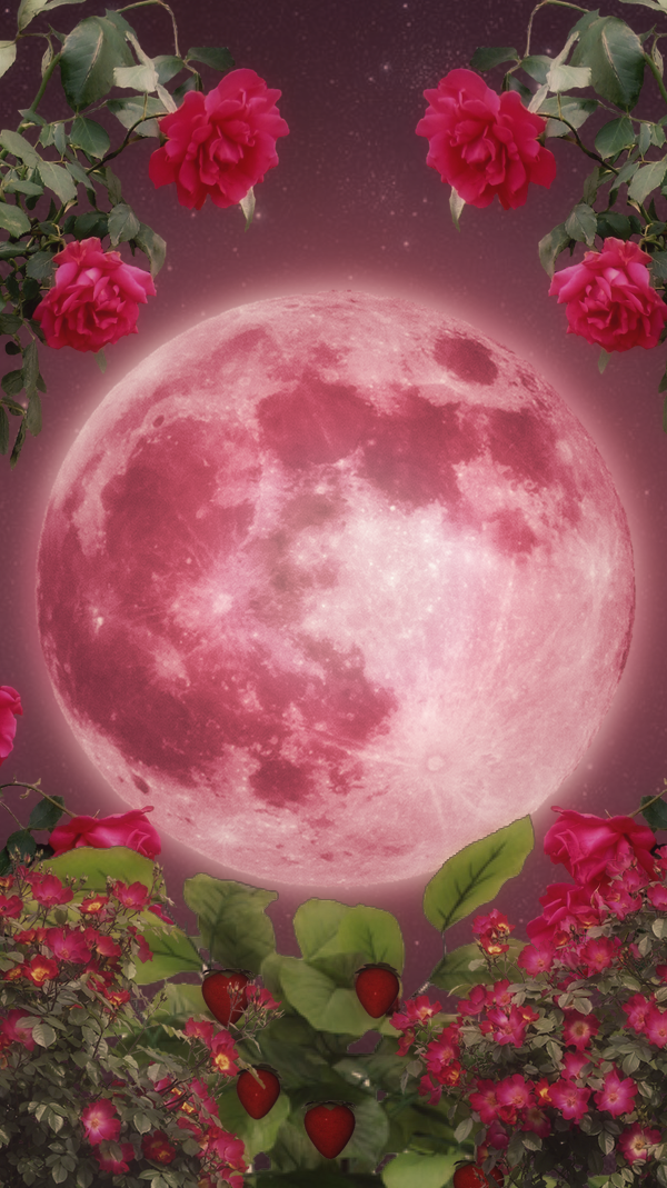 Strawberry Moon iphone wallpaper