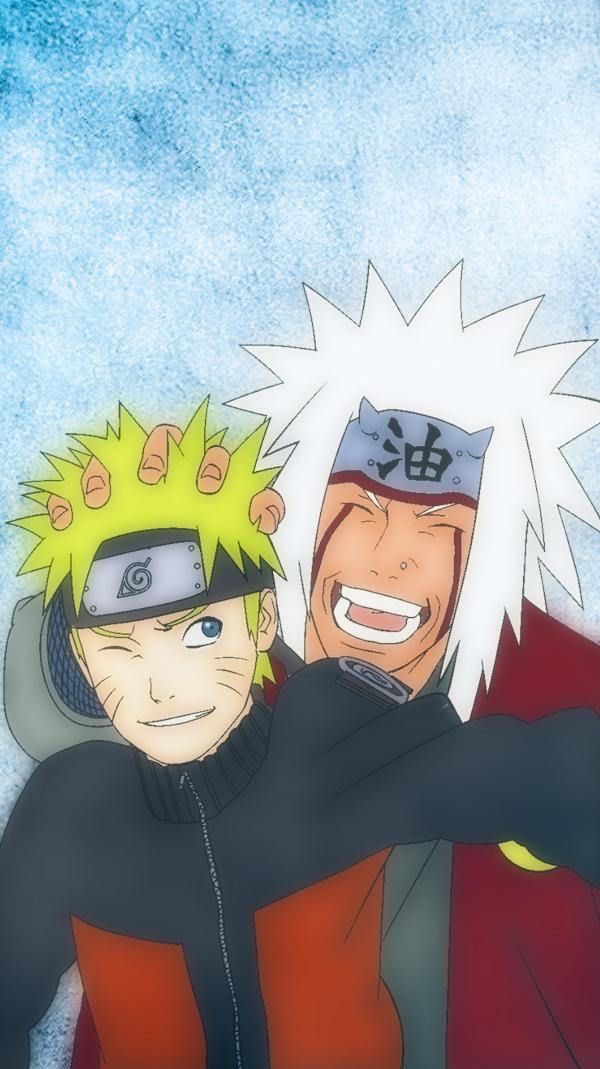 Jiraiya and Naruto iphone wallpaper