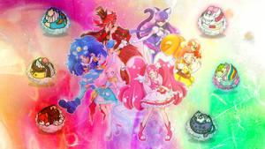 Kirakira PreCure a la Mode Wallpaper