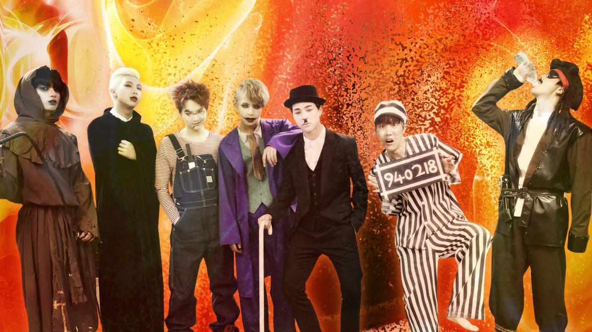 BTS Halloween Wallpaper 2