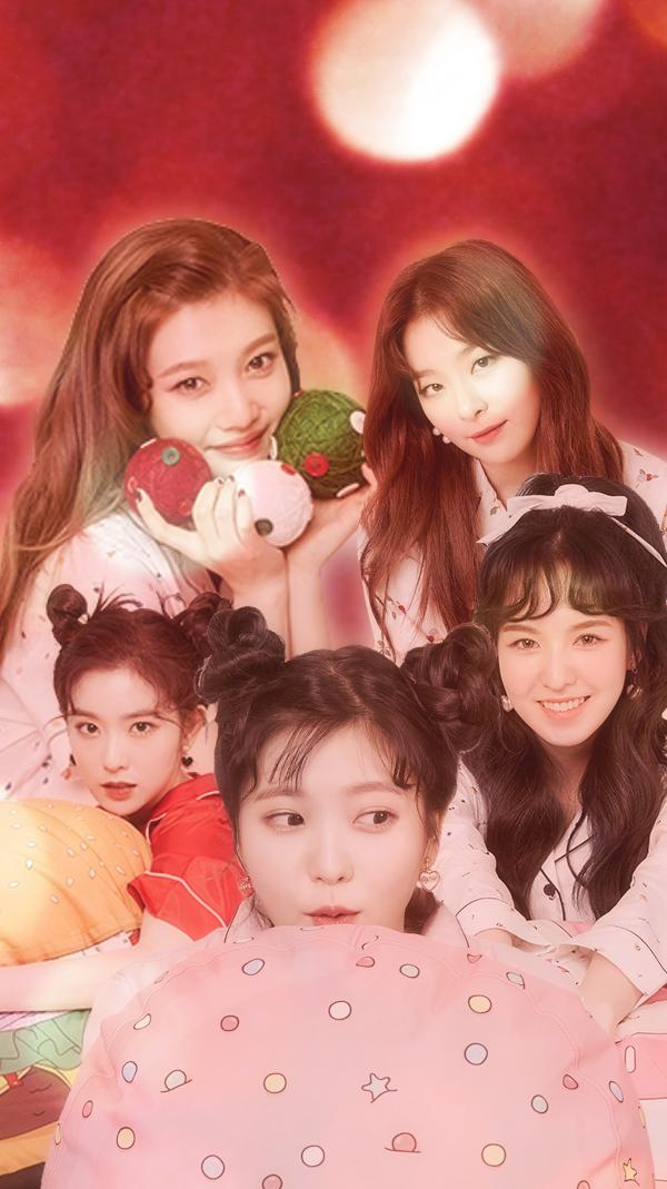 Red Velvet Christmas iphone wallpaper
