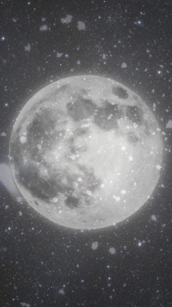 Winter Moon iphone wallpaper