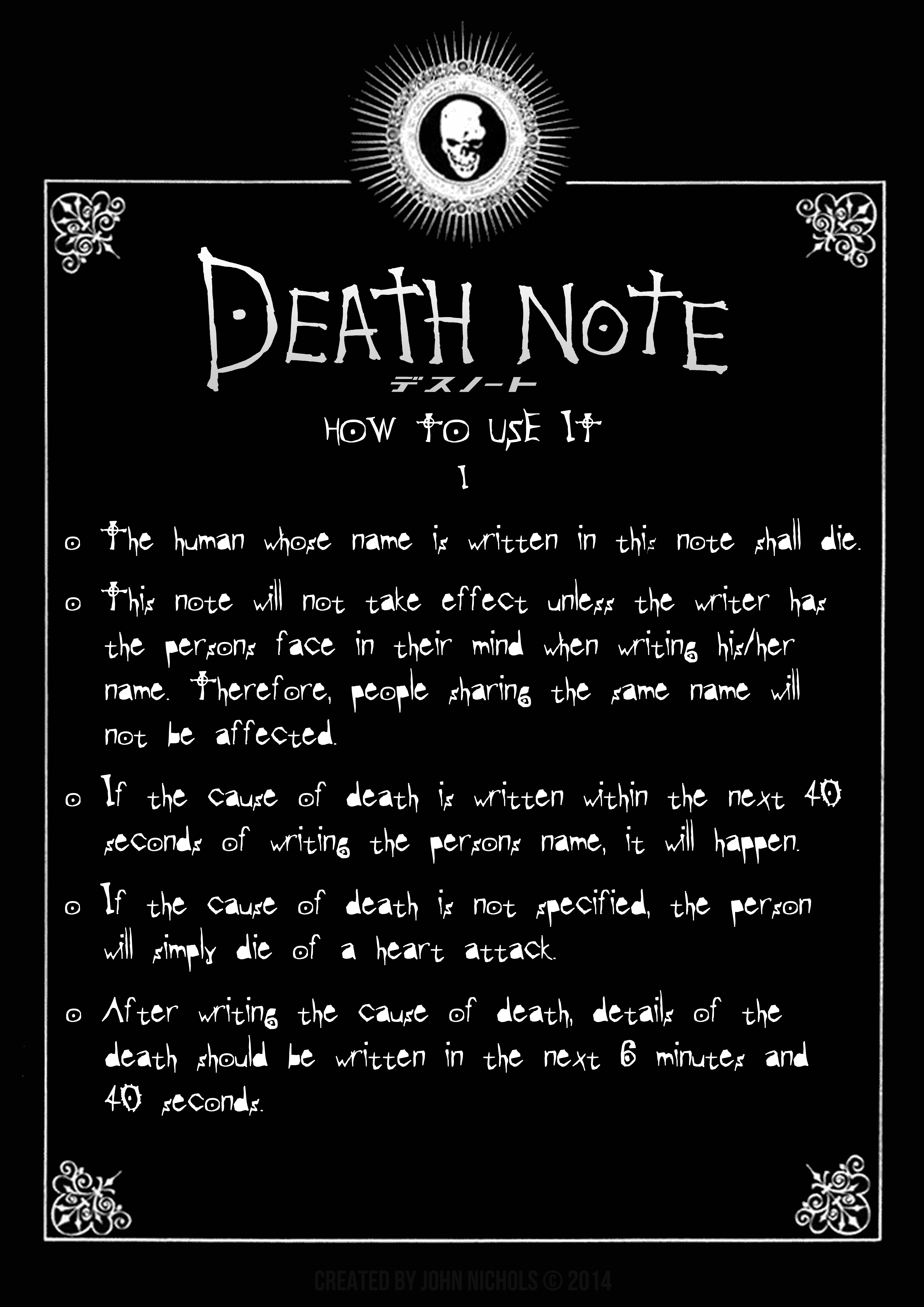 Death Note: A2 Poster - The First Page by JohnNichols4077 ...