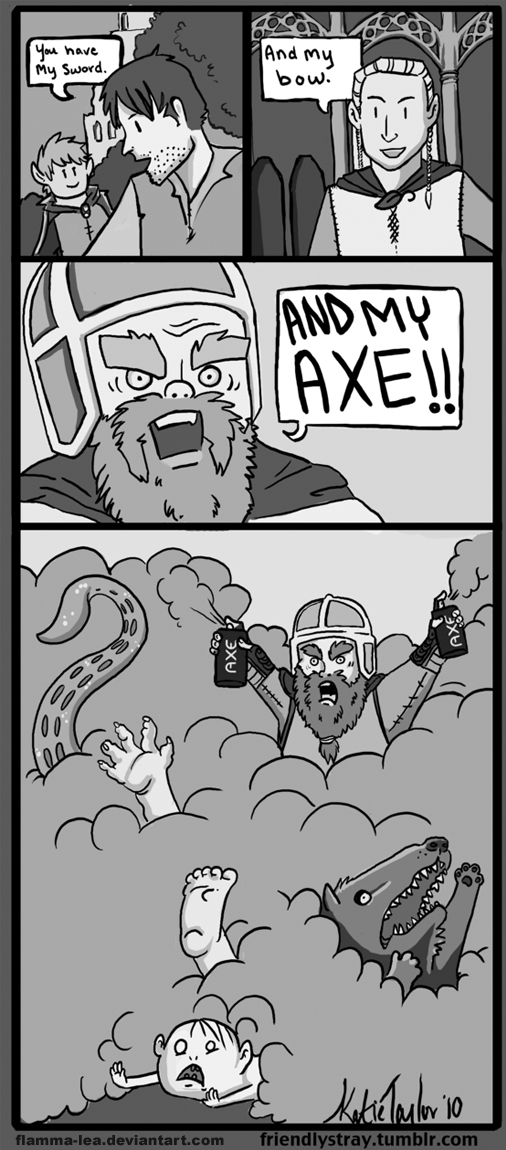 Gimil's Axe by Flamma-Lea