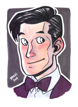 11th Doctor Portrait Card