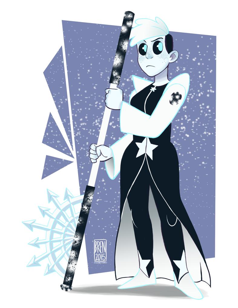 snowflake obsidian gemsona by -#main