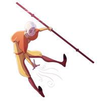 Avatar Aang by scribblywobbly