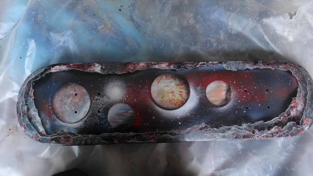 Spray Paint Art Space Painting On A Board By Abtheartist On Deviantart