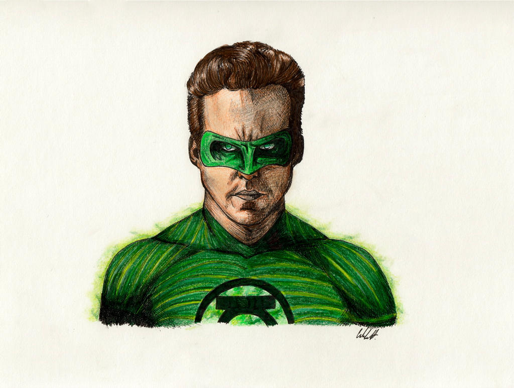 Ryan Reynolds Green Lantern Color by BoyWonder024