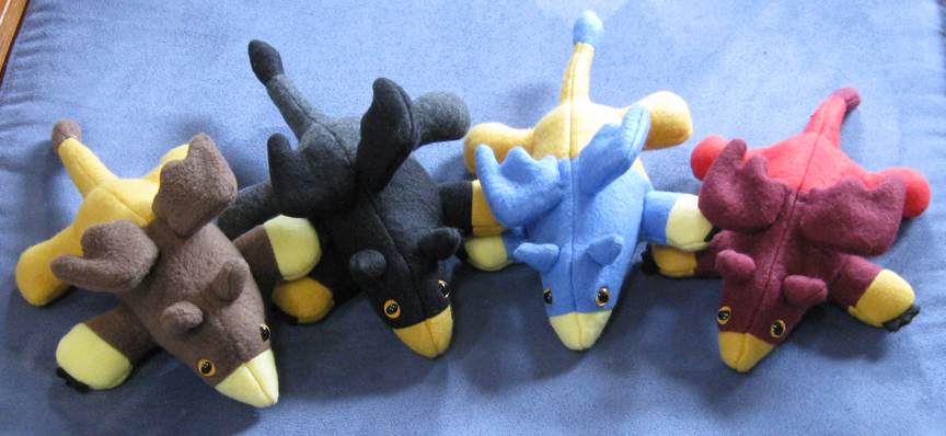 Gryphon Plushies by IchibanVictory
