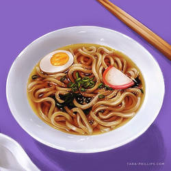Udon noodle soup by aqueous-transmission