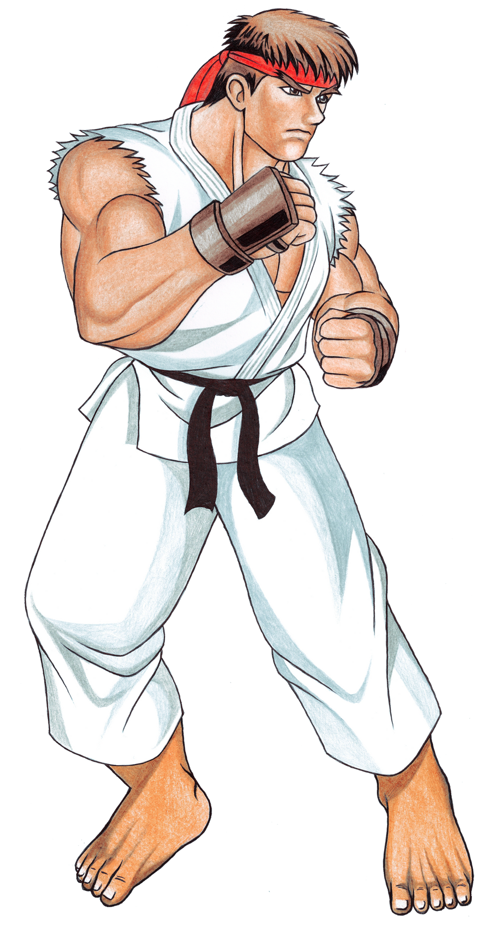 how to draw street fighter style