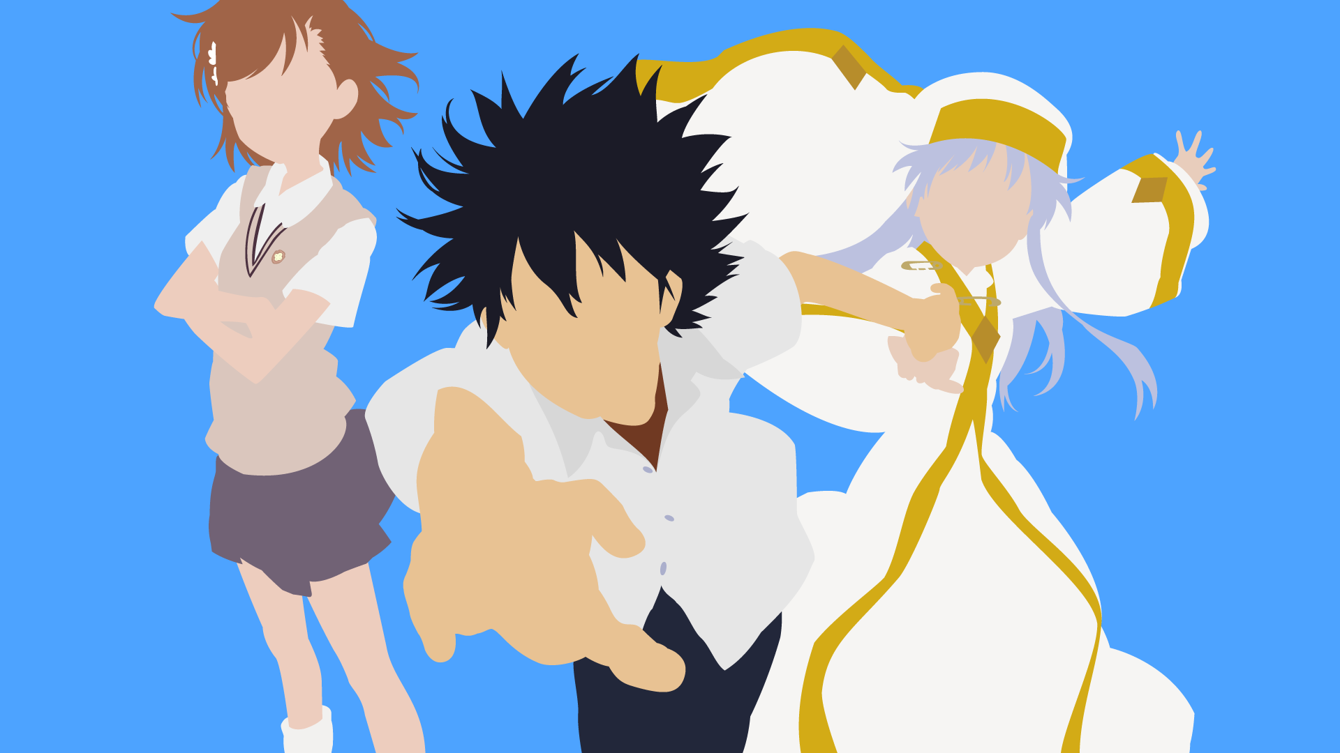 A Certain Magical Index Minimalist Wallpaper By Zugzai On Deviantart