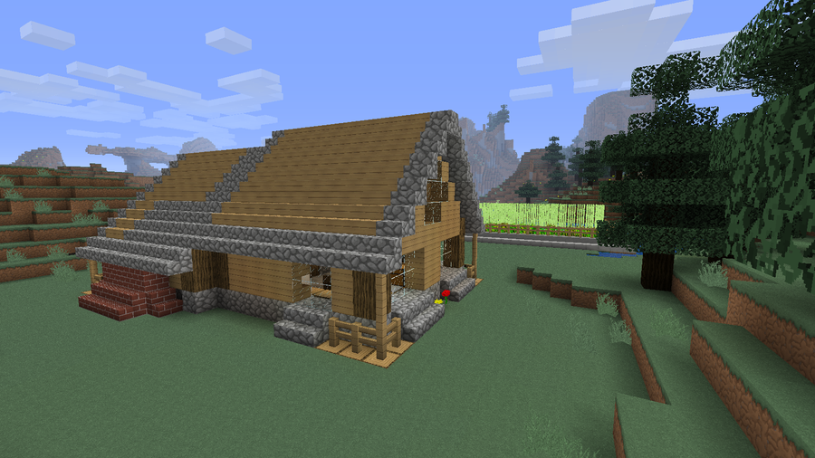 Minecraft basic house 07 by svantjer on deviantart for Home building basics