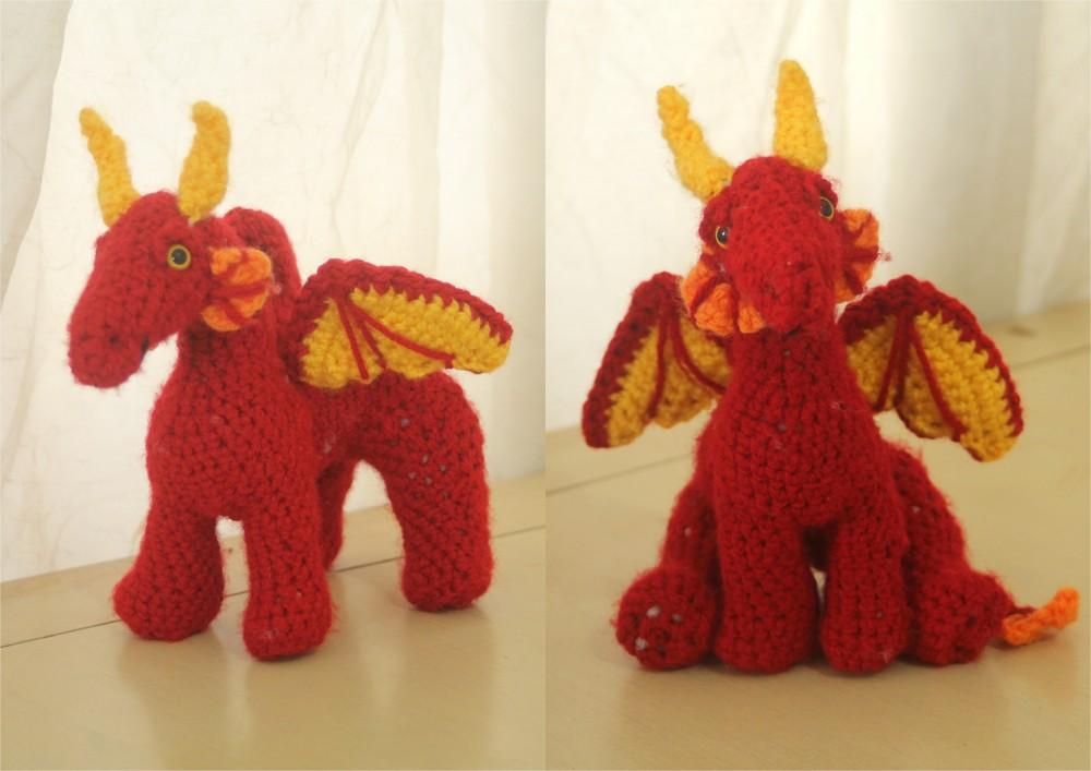 Dragon Rojo Amigurumi : Amigurumi Dragon by aegeandrawn on DeviantArt