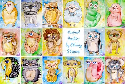 animal doodles by Darkshirley